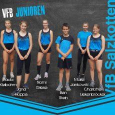 ### Vier persönliche Bestleistungen für das VfB Salzkotten-Juniorteam in Geseke ###